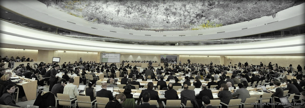 Participants meet for the ninth session of the Human Rights Council.